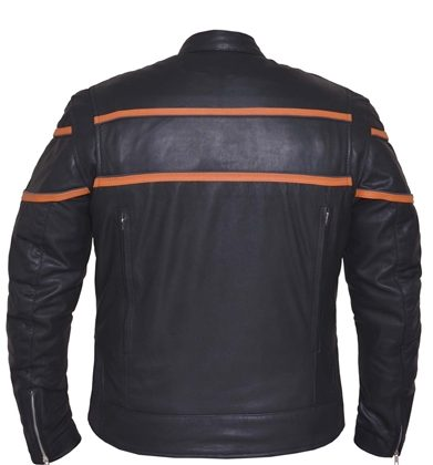 First Classics Mens Lightweight Leather Shirt Black, Large